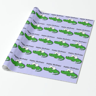 Funky Alligator Wrapping Paper