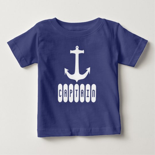 Funky Anchor Captain Toddler T-Shirt