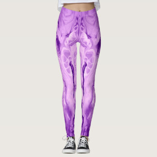 Funky and Fun Purple Leggings by bcolor