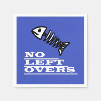 Funky And Funny No Left Overs Fish Paper Napkin