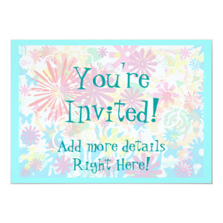"Funky and Spunky 5"" X 7"" Invitation Card"