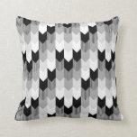 Funky Arrow Chevron Stripes Black Grey Cushion