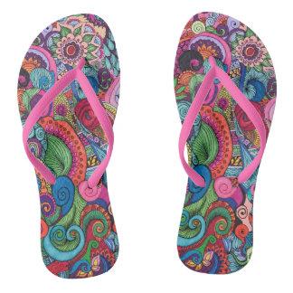 Funky Art Flip Flops