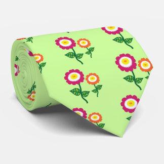 Funky Art Flowers Tie