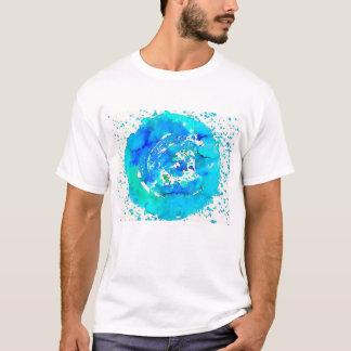 Funky Art Print Bright Blue t-shirt