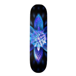 Funky Awesome Neon Psychedelic Flower Star Fractal Skateboard