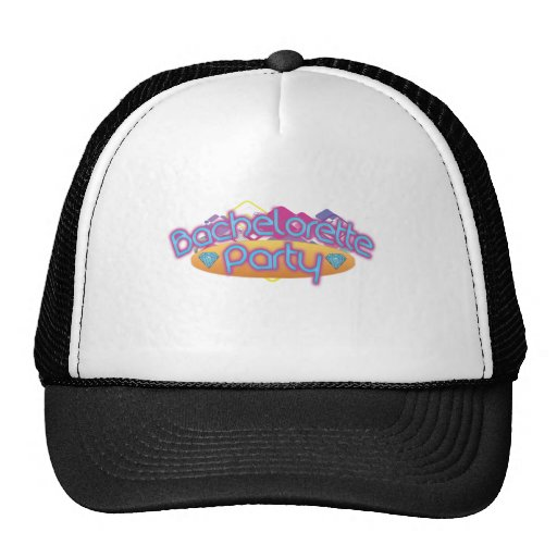 funky bachelorette wedding bridal shower party trucker hat