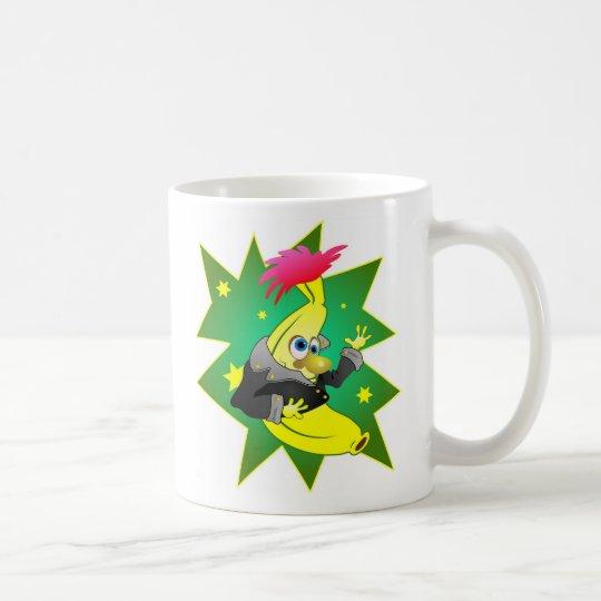 Funky banana coffee mug