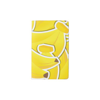 Funky banana pocket moleskine notebook
