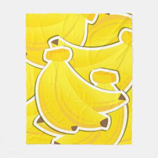 Funky bananas fleece blanket