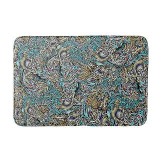Funky bath mat multi-colored modern design