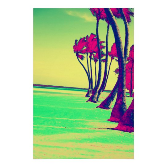funky beach design Print