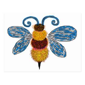 Funky Bee Postcard
