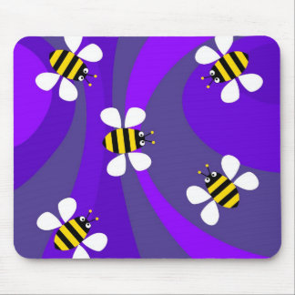 Funky Bees Mouse Mats
