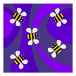 Funky Bees Posters