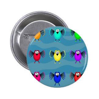 Funky Birds 6 Cm Round Badge