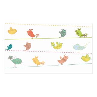 funky birds business cards