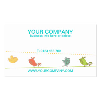 funky birds business cards front