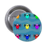 Funky Birds Buttons