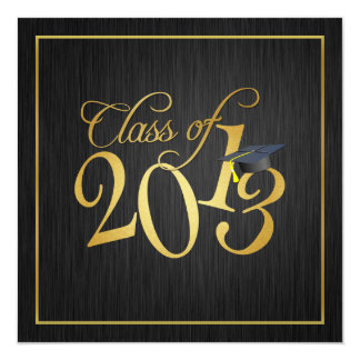 Funky Black and Gold Class of 2013 Card