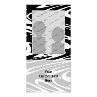 Funky Black and White Pattern. Card