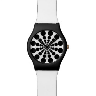 Funky black circles watch
