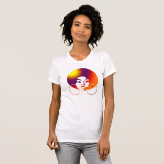 Funky Black Girl With Afro Blousy Tee: Sunrise T-Shirt