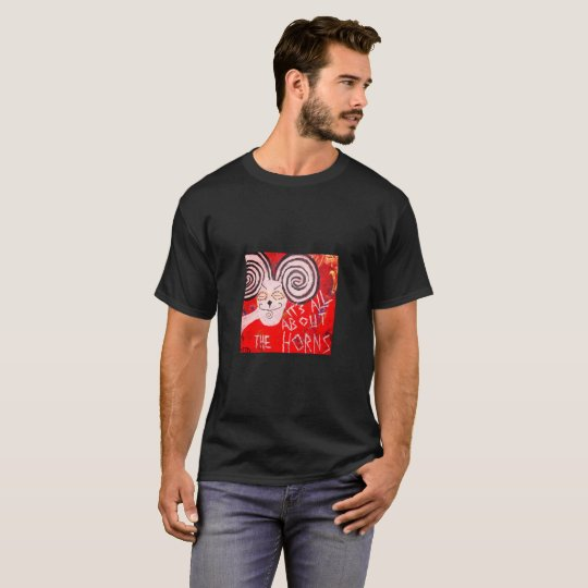Funky black t-shirt with horny ram
