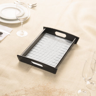 Funky, Black & White Abstract Pattern Serving Tray