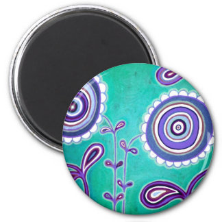 Funky Bliss 6 Cm Round Magnet