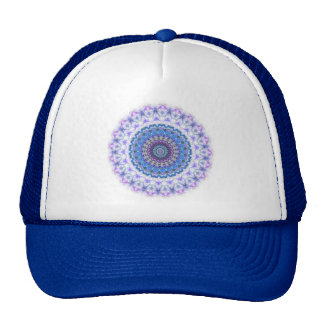 Funky Blue and purple Kaleidoscope Mandala hat