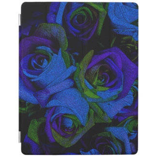Funky Blue Roses iPad Cover