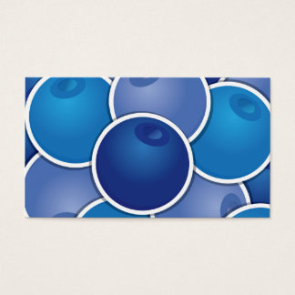 Funky blueberry business card