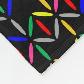 funky bold on black fleece blanket