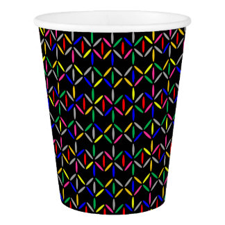 funky bold on black paper cup