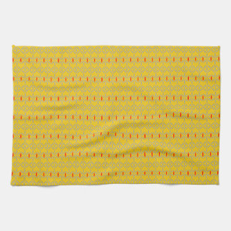 funky bold on mustard kitchen towel tea towel