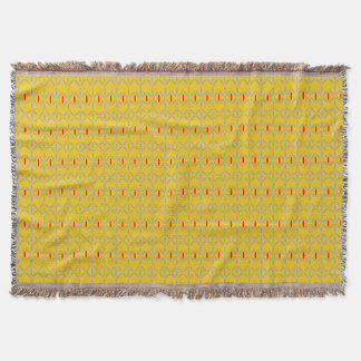 funky bold on mustard throw