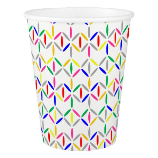 funky bold on white paper cup