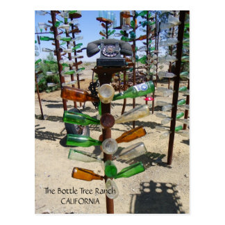Funky Bottle Tree Ranch Postcard! Postcard