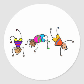 Funky Boys Classic Round Sticker
