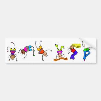 Funky Boys, Funky Girls Bumper Sticker