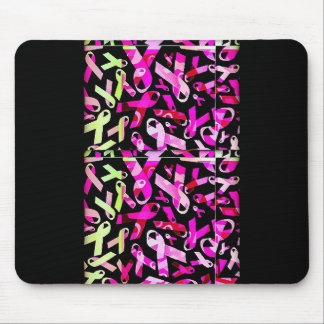Funky Breast Cancer Ribbons Mouse Mat