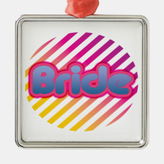 funky bride bachelorette wedding bridal party gift christmas tree ornament
