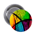 Funky Bright Abstract Art Painting 6 Cm Round Badge
