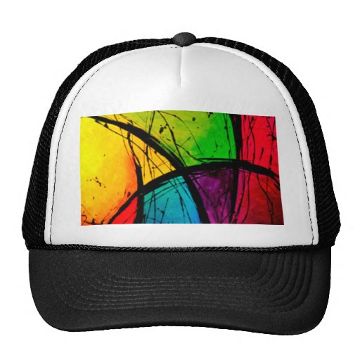 Funky Bright Abstract Art Painting Cap