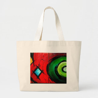 Funky Bright  Abstract Art Painting Jumbo Tote Bag