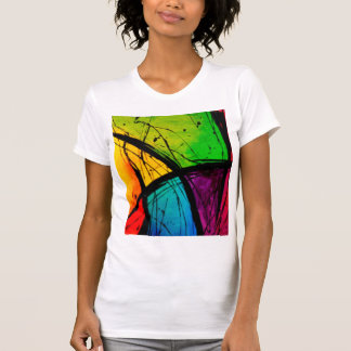 Funky Bright Abstract Art Painting T-Shirt