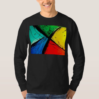 Funky Bright Abstract Art Painting Tees