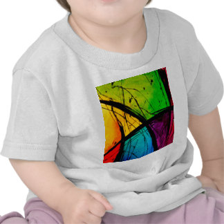 Funky Bright Abstract Art Painting Shirt