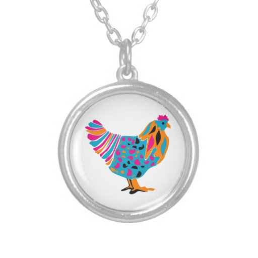 Funky Bright Chicken Necklace